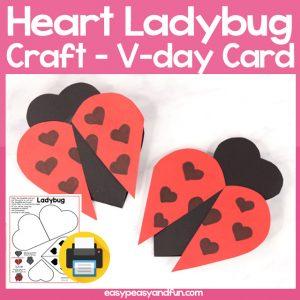 Heart Ladybug Craft for Kids