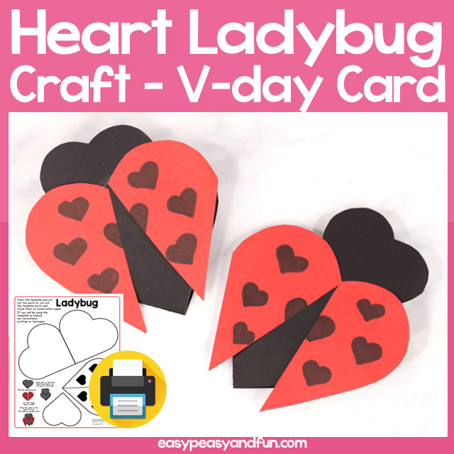Heart Ladybug Craft for Kids