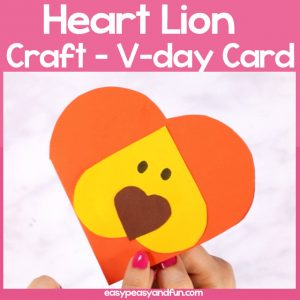 Heart Lion Craft for Kids