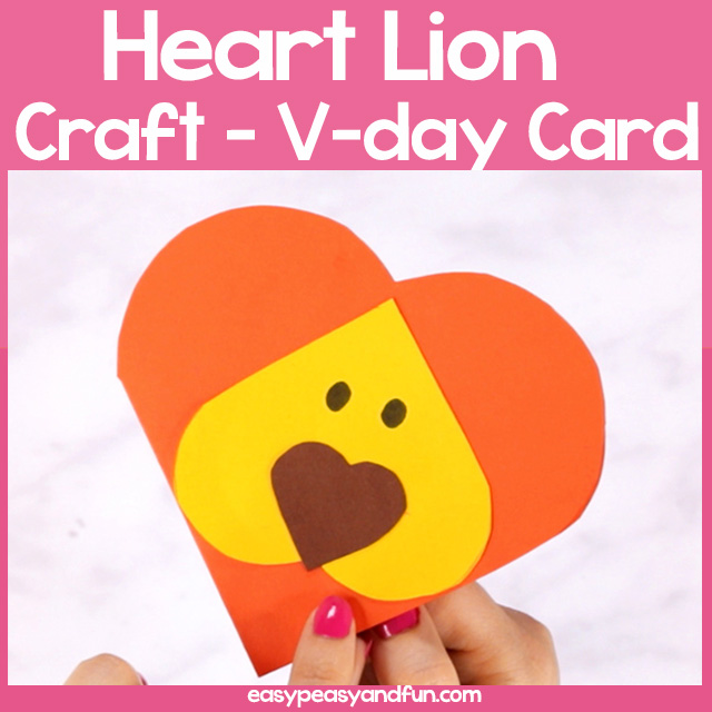 Heart Lion Craft for Kids