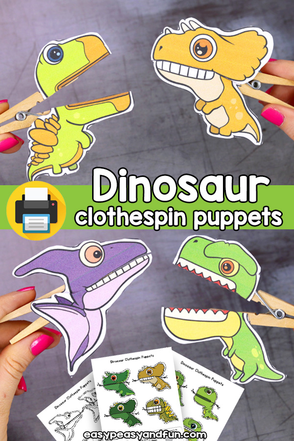 Dinosaur Clothespin Puppets – Easy Peasy and Fun Membership