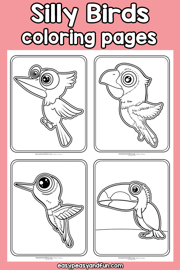 Silly Birds - Coloring Pages