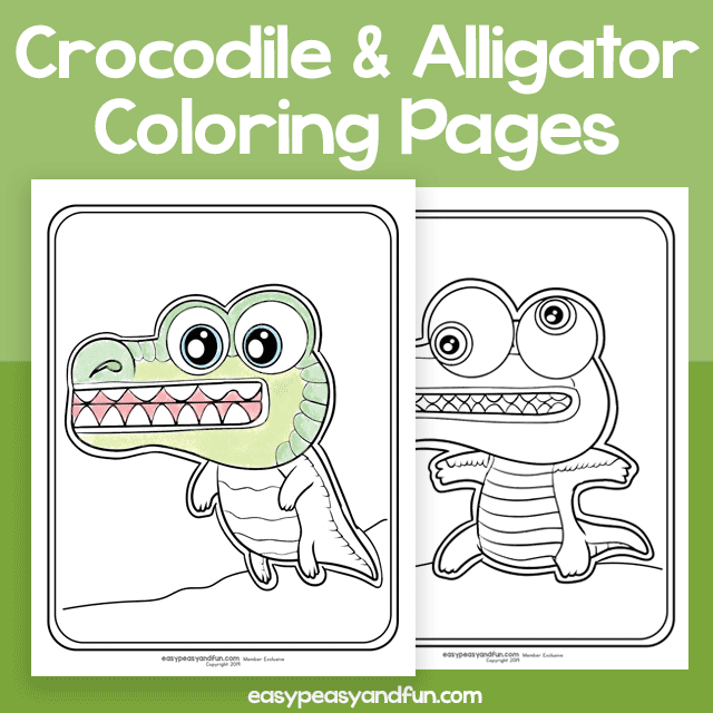Silly Crocodile and Alligator Coloring Pages – Easy Peasy ...