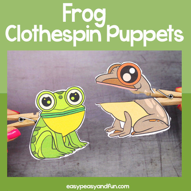 Frog Clothespin Puppets
