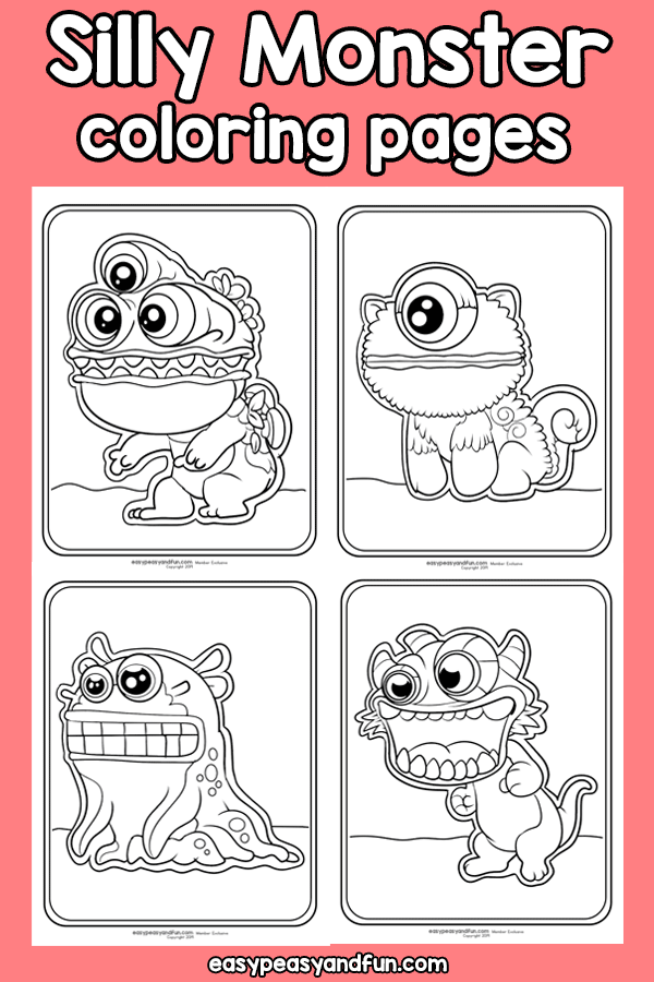 Monster Halloween Coloring Pages