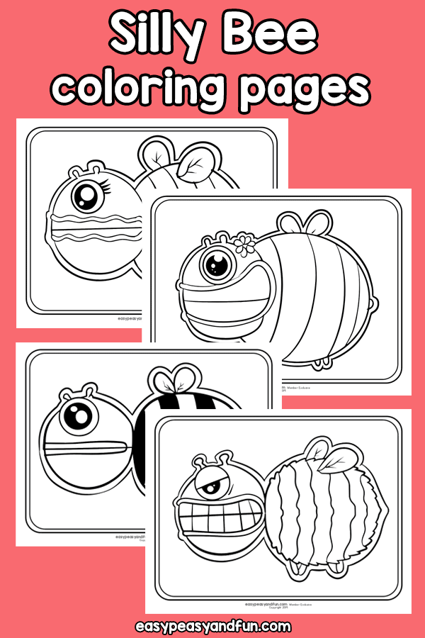 Printable Silly Bee Coloring Pages