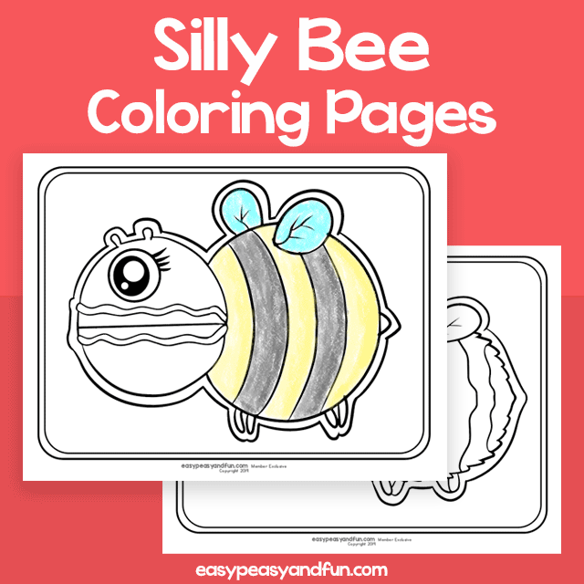 Silly Bee Coloring Pages