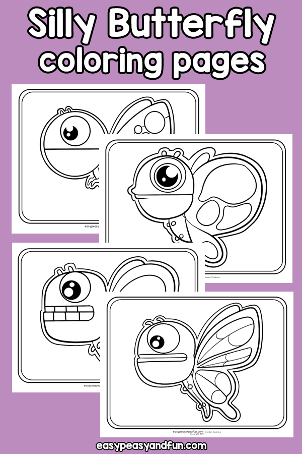 Printable Silly Butterfly Coloring Pages