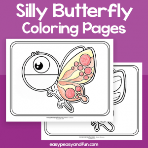 Silly Butterfly Coloring Pages