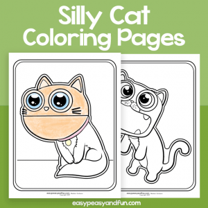 Silly Cat Coloring Pages