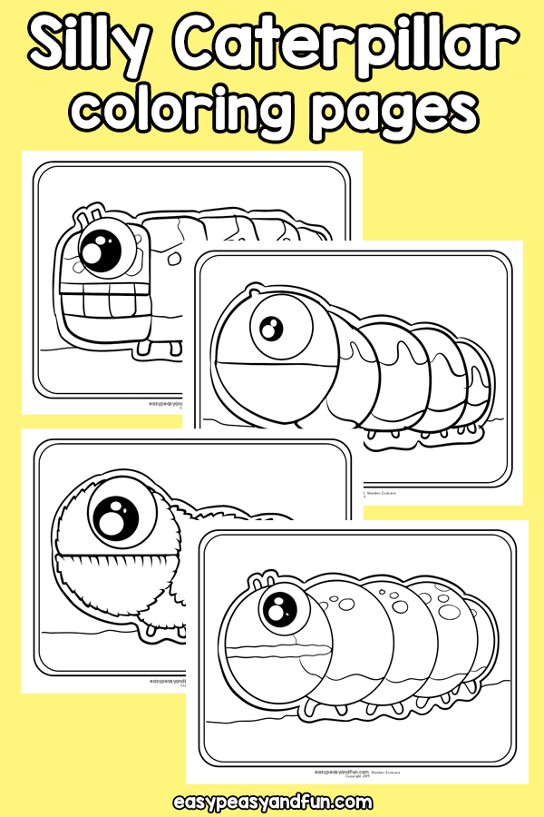 Printable Silly Caterpillar Coloring Pages