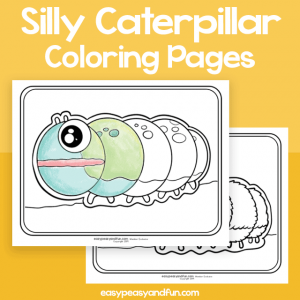 Silly Caterpillar Coloring Pages