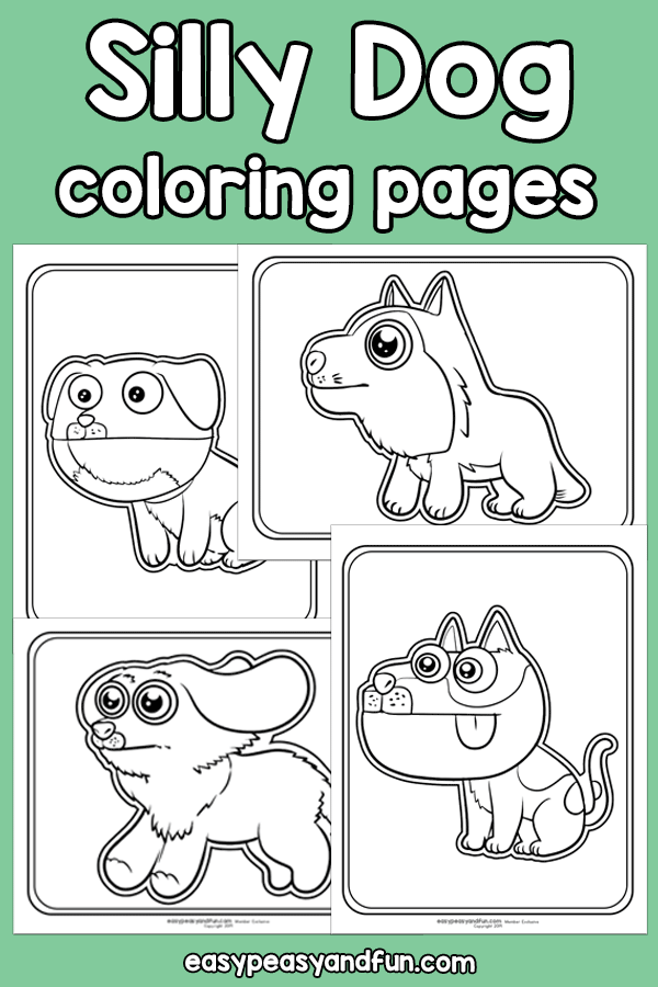 Printable Silly Dog Coloring Pages