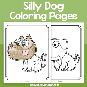 Silly Dog Coloring Pages