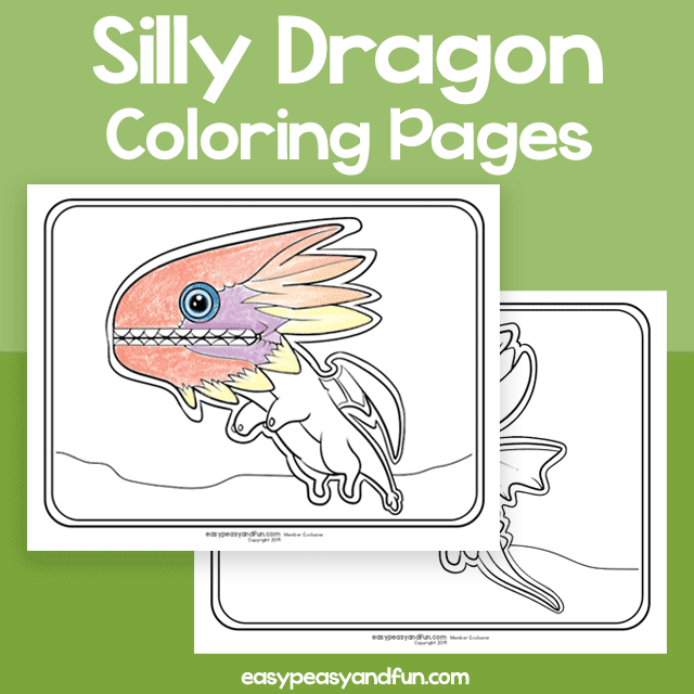 Silly Dragon Coloring Pages