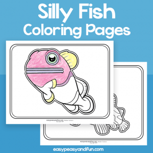 Silly Fish Coloring Pages