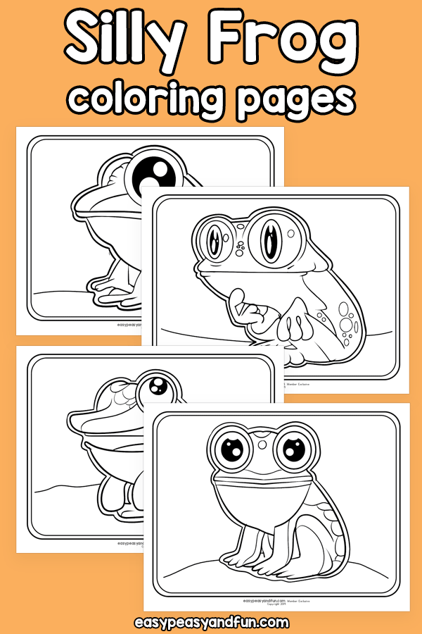 Printable Silly Frog Coloring Pages