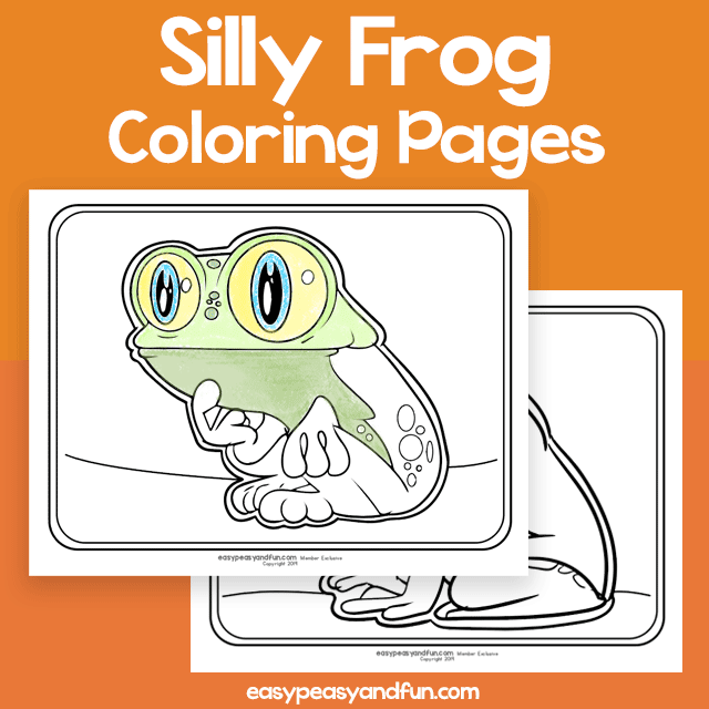 Silly Frog Coloring Pages