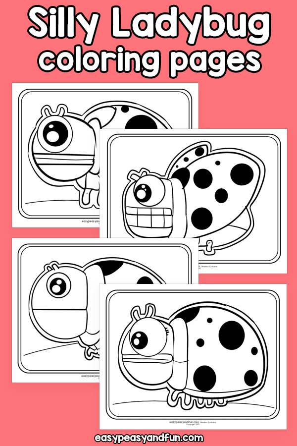 Printable Silly Ladybug Coloring Pages