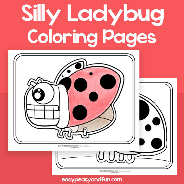 Silly Ladybug Coloring Pages