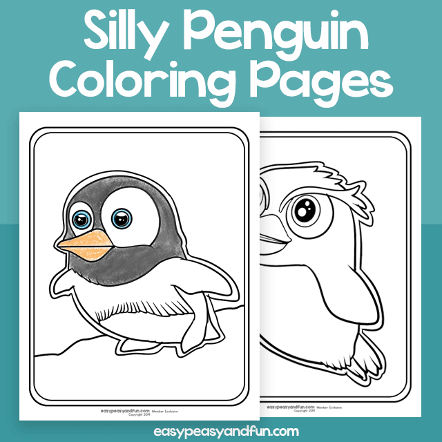 Silly Penguin Coloring Pages