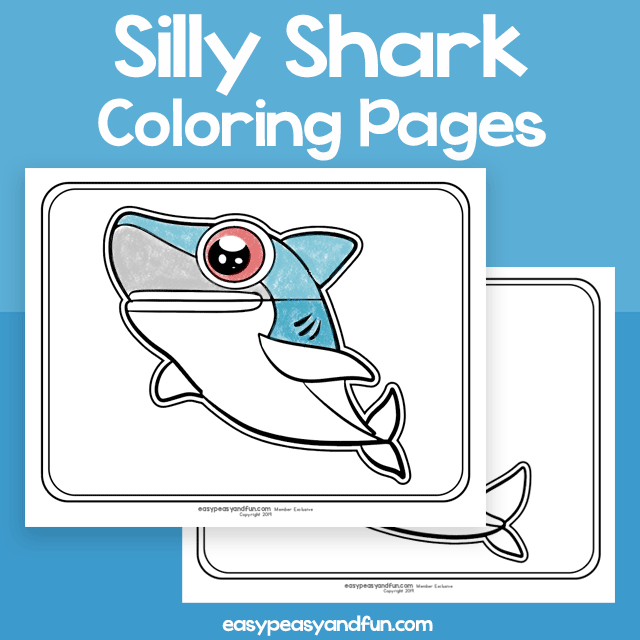 Silly Shark Coloring Pages
