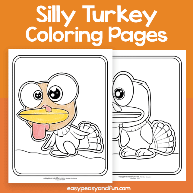 Silly Turkey Coloring Pages