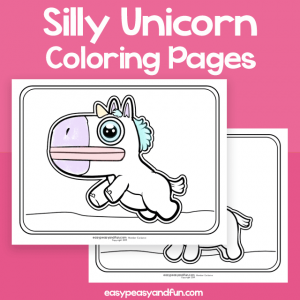 Silly Unicorn Coloring Pages