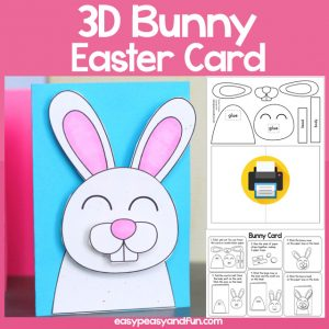 3D Easter Bunny Card