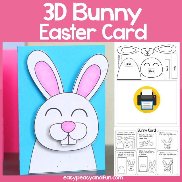 3D Easter Bunny Card