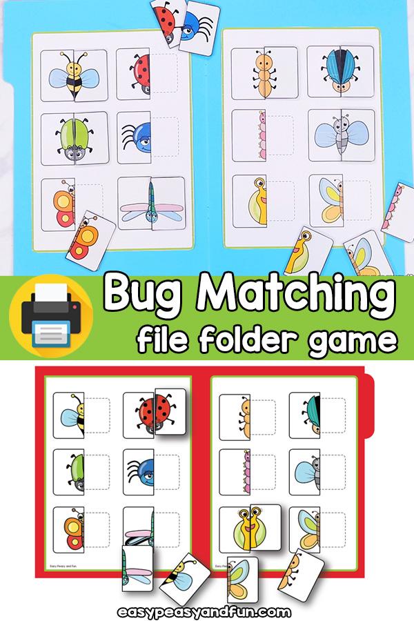Bug Matching File Folder Game