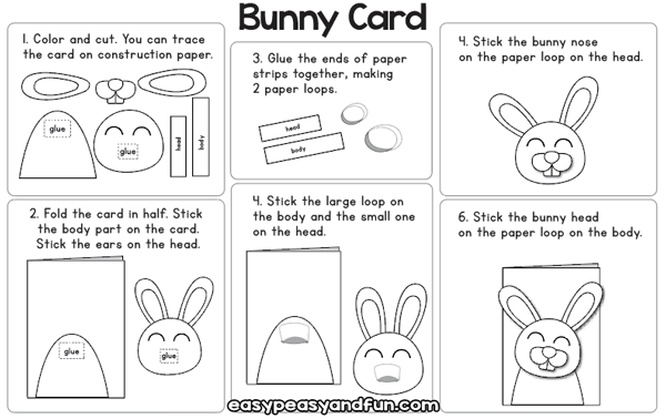 Bunny Card Instructions