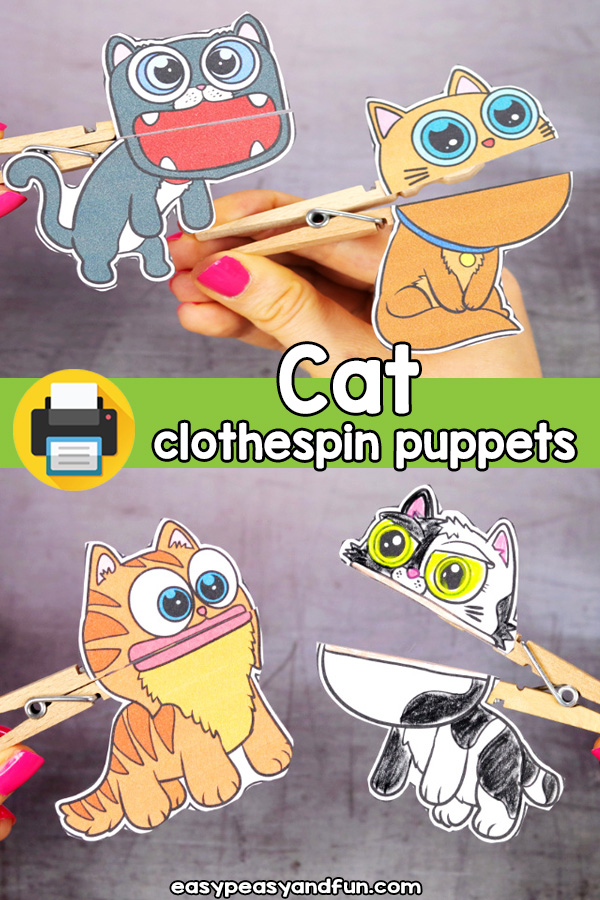 Cat Clothespin Puppets