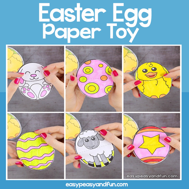 Easter Egg Paper Toy
