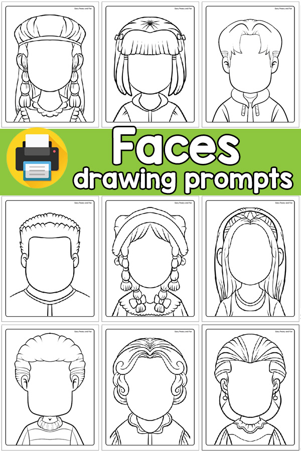 Blank Faces Drawing Prompts