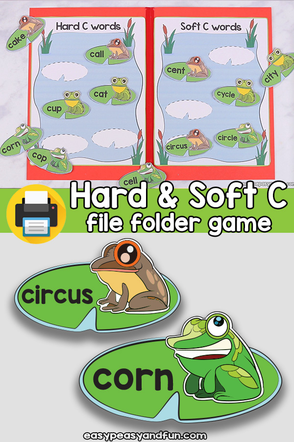 Hard and Soft C Words File folder Game