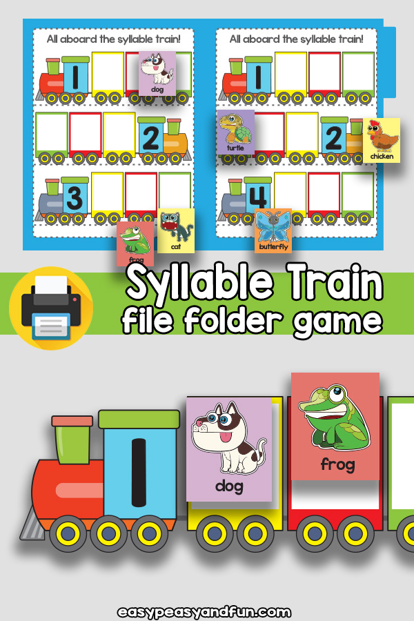 How many syllables file folder game