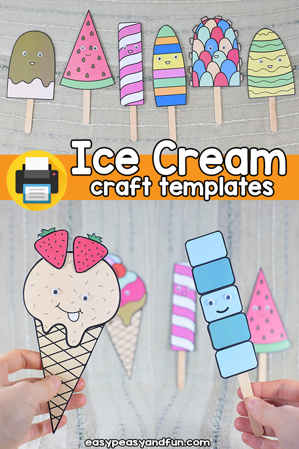Ice Cream Craft Printable Template