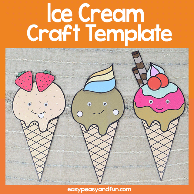 photo relating to Ice Cream Template Printable identified as Printable Ice Product Craft Simple Peasy and Pleasurable Subscription