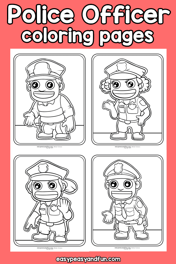 Police Officer Coloring Pages Community Workers