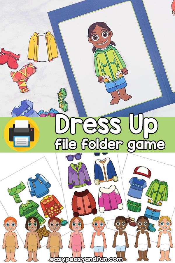 Printable Dress Up Game