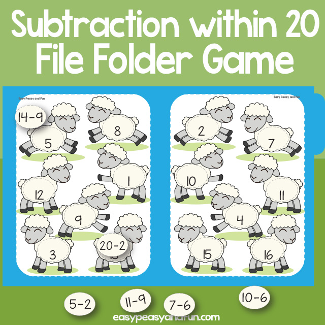 Sheep Subtraction Within 20