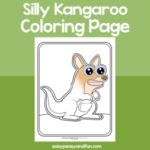 Silly Kangaroo Coloring Page