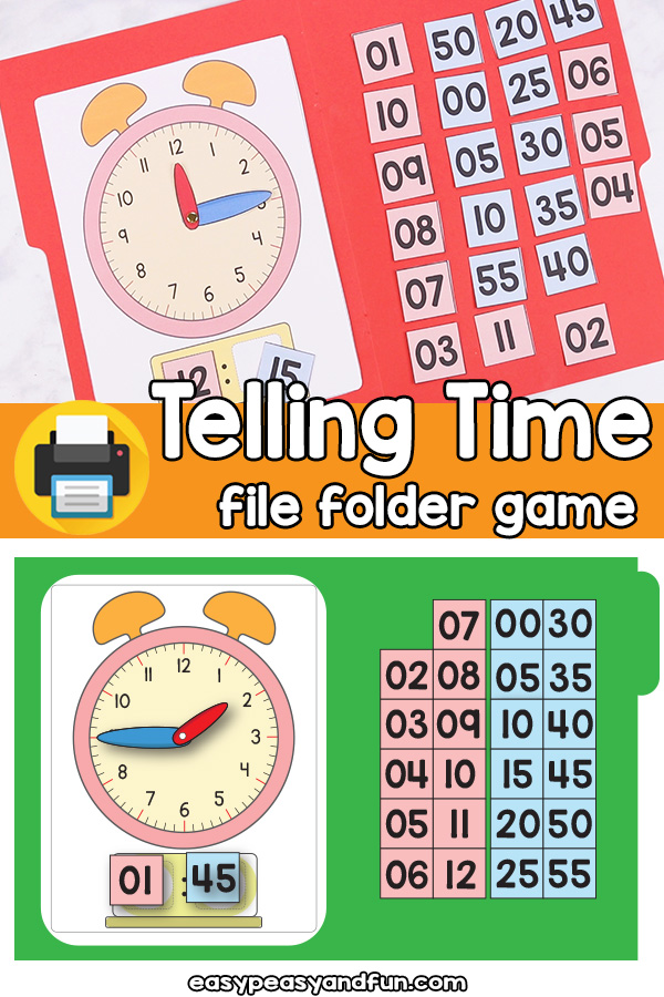 photograph relating to Telling Time Printable Game identify Telling Year Record Folder Sport Basic Peasy and Enjoyable Subscription