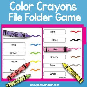 Color Crayons File Folder Game