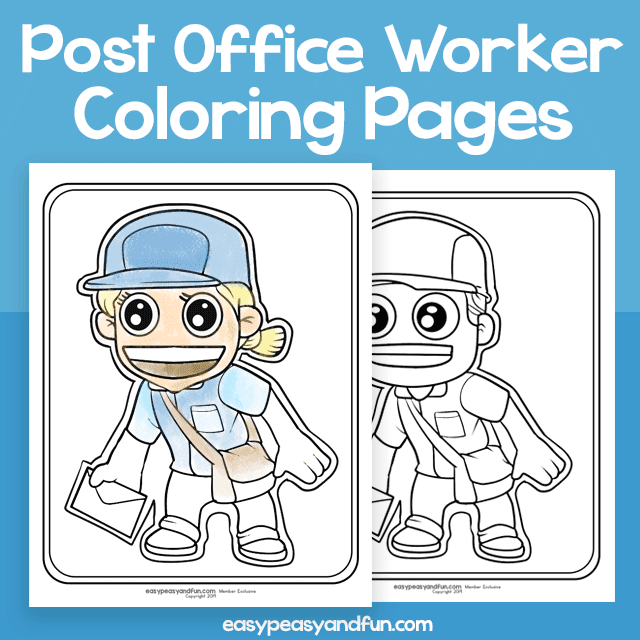 Coloring Pages - Post Office Worker