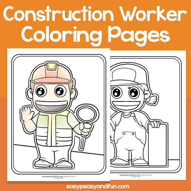 Community Workers Construction Worker Coloring Pages – Easy ...