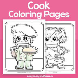 Community Workers Cook Coloring Pages