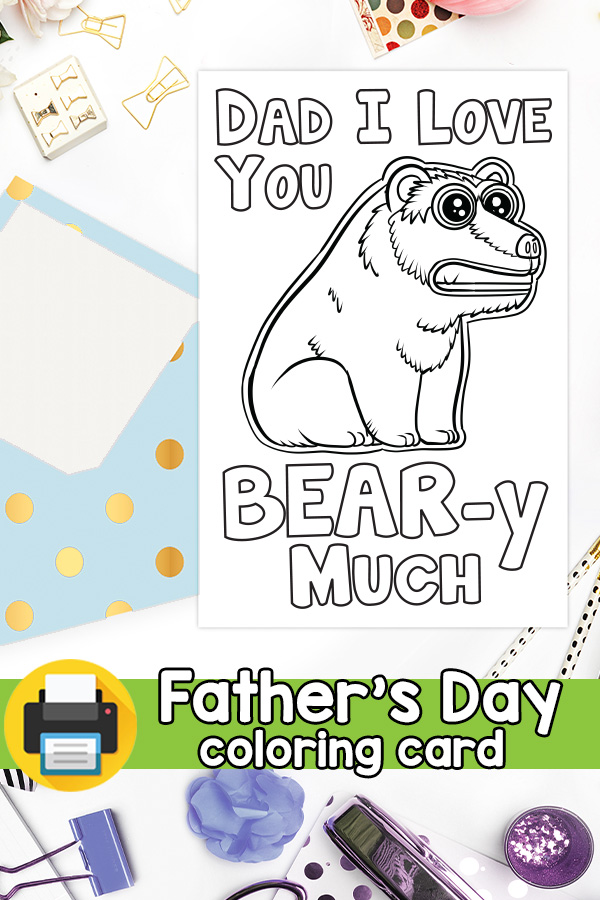 Dad I Love You Beary Much Father's Day Card