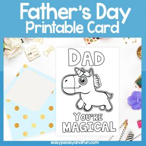 Dad You are Magical Father's Day Card Unicorn